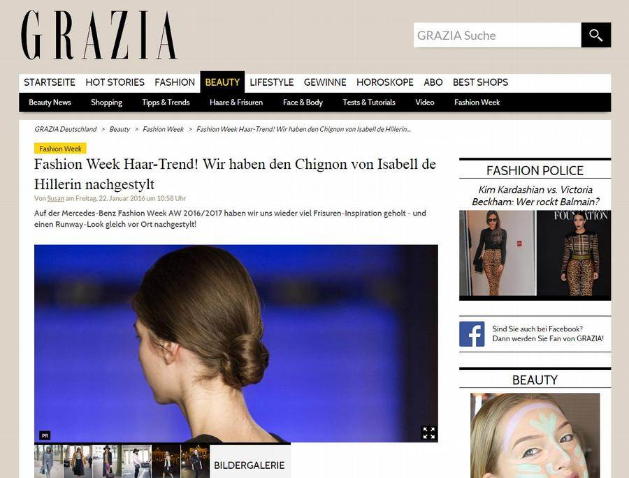 Grazia Magazin Fashion Week Haar-Trends