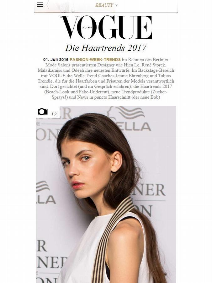 Vogue Haartrends von Tobias Tröndle
