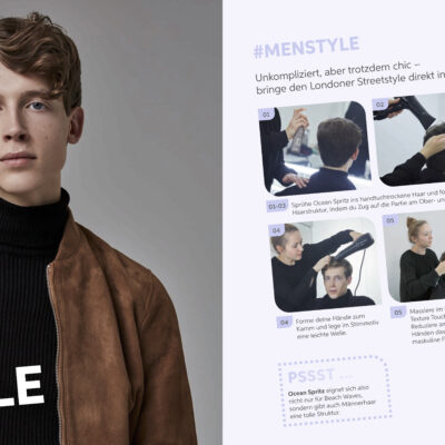 EIMI Style Book Shooting powered by Tobias Tröndle - men hair styling