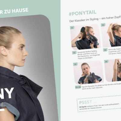 EIMI Style Book Shooting powered by Tobias Tröndle - long hair ponytail DIY